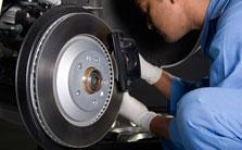 Man working on brakes